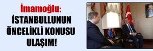 İmamoğlu: İstanbullunun öncelikli konusu ulaşım!