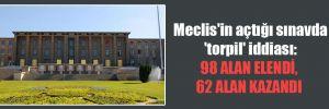 Meclis'in açtığı sınavda 'torpil' iddiası: 98 alan elendi, 62 alan kazandı