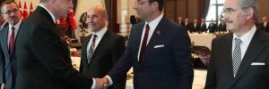 Erdoğan, Ekrem İmamoğlu, Mansur Yavaş ve Tunç Soyer'le böyle tokalaştı