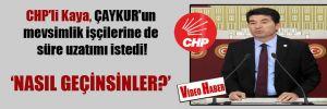 CHP'li Kaya, ÇAYKUR'un mevsimlik işçilerine de süre uzatımı istedi!