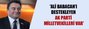 'Ali Babacan'ı destekleyen AK Parti milletvekilleri var'
