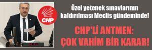 Özel yetenek sınavlarının kaldırılması Meclis gündeminde! CHP'li Antmen: Çok vahim bir karar!