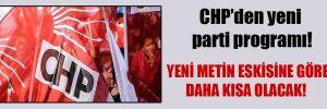 CHP'den yeni parti programı!