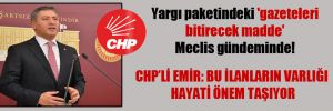 Yargı paketindeki 'gazeteleri bitirecek madde' Meclis gündeminde!