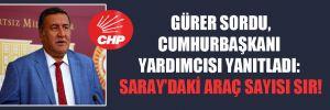 CHP'li Gürer sordu, Cumhurbaşkanı Yardımcısı yanıtladı: Saray'daki araç sayısı sır!