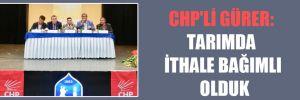 CHP'li Gürer: Tarımda ithale bağımlı olduk
