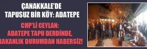 CHP'li Ceylan: Adatepe tapu derdinde, Bakanlık durumdan habersiz!