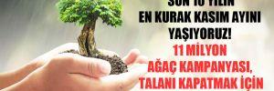 'Son 10 yılın en kurak kasım ayını yaşıyoruz. 11 milyon ağaç kampanyası, talanı kapatmak için aldatmacadır'