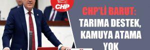 CHP'li Barut: Tarıma destek, kamuya atama yok