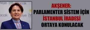 Akşener: Parlamenter sistem için İstanbul iradesi ortaya konulacak