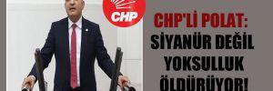 CHP'li Polat: Siyanür değil yoksulluk öldürüyor!
