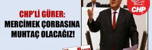 CHP'li Gürer: Mercimek çorbasına muhtaç olacağız!