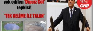 CHP'li Aydoğan'dan yok edilen 'Dipsiz Göl' tepkisi! 'Tek kelime ile talan'