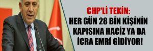 CHP'li Tekin: Her gün 28 bin kişinin kapısına haciz ya da icra emri gidiyor!