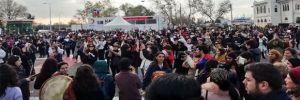 Kadınlar, Şilili feministlerin danslı protestosunu İstanbul'da gerçekleştirdi, polis müdahale etti