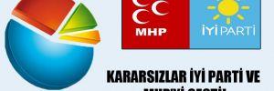 Kararsızlar İYİ Parti ve MHP'yi geçti!