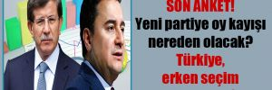 Son anket! Yeni partiye oy kayışı nereden olacak? Türkiye, erken seçim istiyor mu?
