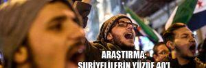 Araştırma: Suriyelilerin yüzde 40'ı 'Ben ülkeme dönmek istemiyorum' dedi!