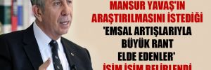 Mansur Yavaş'ın araştırılmasını istediği 'emsal artışlarıyla büyük rant elde edenler' isim isim belirlendi