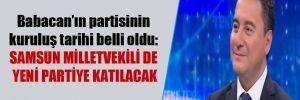 Babacan'ın partisinin kuruluş tarihi belli oldu: Samsun milletvekili de yeni partiye katılacak