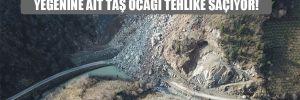 Giresun'da halk ayaklandı: AKP'li başkanın yeğenine ait taş ocağı tehlike saçıyor!