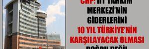 CHP: İİT Tahkim Merkezi'nin giderlerini 10 yıl Türkiye'nin karşılayacak olması doğru değil