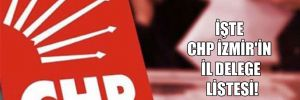 İşte CHP İzmir'in il delege listesi!