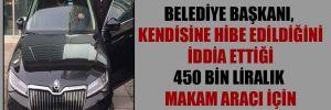 MHP'li belediye başkanı, kendisine hibe edildiğini iddia ettiği 450 bin liralık makam aracı için kurban kesti