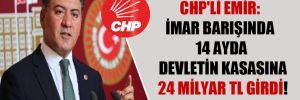 CHP'li Emir: İmar barışında 14 ayda devletin kasasına 24 milyar TL girdi!