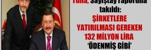 Tuna, Sayıştay raporuna takıldı: Şirketlere yatırılması gereken 132 milyon lira  'ödenmiş gibi' gösterildi