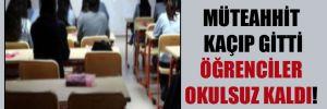 Müteahhit kaçıp gitti öğrenciler okulsuz kaldı!