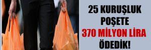 25 kuruşluk poşete 370 milyon lira ödedik!