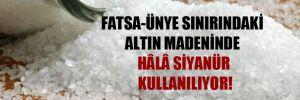 Fatsa-Ünye sınırındaki altın madeninde hâlâ siyanür kullanılıyor!