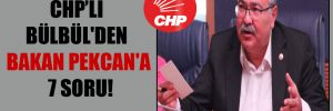CHP'li Bülbül'den Bakan Pekcan'a 7 soru!