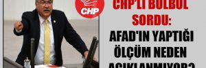 CHP'li Bülbül sordu: AFAD'ın yaptığı ölçüm neden açıklanmıyor?