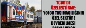 TCDD'de özelleştirme; yolcu taşımacılığının özel sektöre devredilmesi planlanıyor