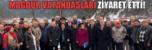 CHP heyeti Uzungöl'de mağdur vatandaşları ziyaret etti!