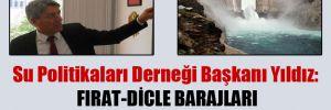 Su Politikaları Derneği Başkanı Yıldız: Fırat-Dicle Barajları depreme dayanıklı