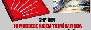CHP'den '10 Maddede Kıdem Tazminatında Fon Aldatmacası' broşürü!