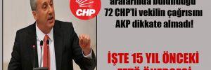 İnce'nin de aralarında bulunduğu 72 CHP'li vekilin çağrısını AKP dikkate almadı!