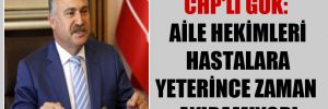 CHP'li Gök: Aile hekimleri hastalara yeterince zaman ayıramıyor!