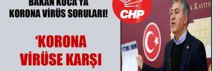 CHP'li Emir'den Bakan Koca'ya korona virüs soruları!