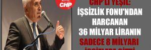 CHP'li Yeşil: İşsizlik Fonu'ndan harcanan 36 milyar Liranın sadece 8 milyarı işsizlere gitti