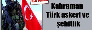Kahraman Türk askeri ve şehitlik