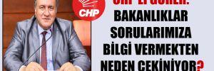 CHP'li Gürer: Bakanlıklar sorularımıza bilgi vermekten neden çekiniyor?