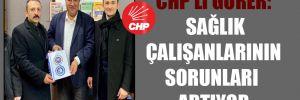 CHP'li Gürer: Sağlık çalışanlarının sorunları artıyor