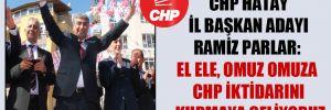 CHP Hatay İl Başkan adayı Ramiz Parlar: El ele, omuz omuza CHP iktidarını kurmaya geliyoruz