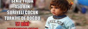 Sekiz yılda 450 bin Suriyeli çocuk Türkiye'de doğdu, 57 bini vatandaş oldu