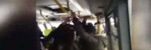 İstanbul'da minibüsle yolculukta skandal görüntüler