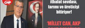 CHP'li Barut: AKP'nin ithalat sevdası, tarımı ve üreticiyi bitiriyor!